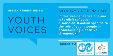 Weekly Webinar: Youth Voices tickets