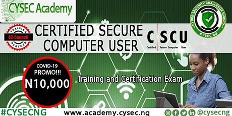Certified Secure Computer User CSCU Training & International Certification tickets