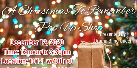 A Christmas To Remember Pop-Up Shop tickets