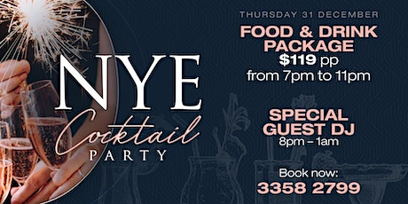 NYE Cocktail Party @ The QA Hotel tickets