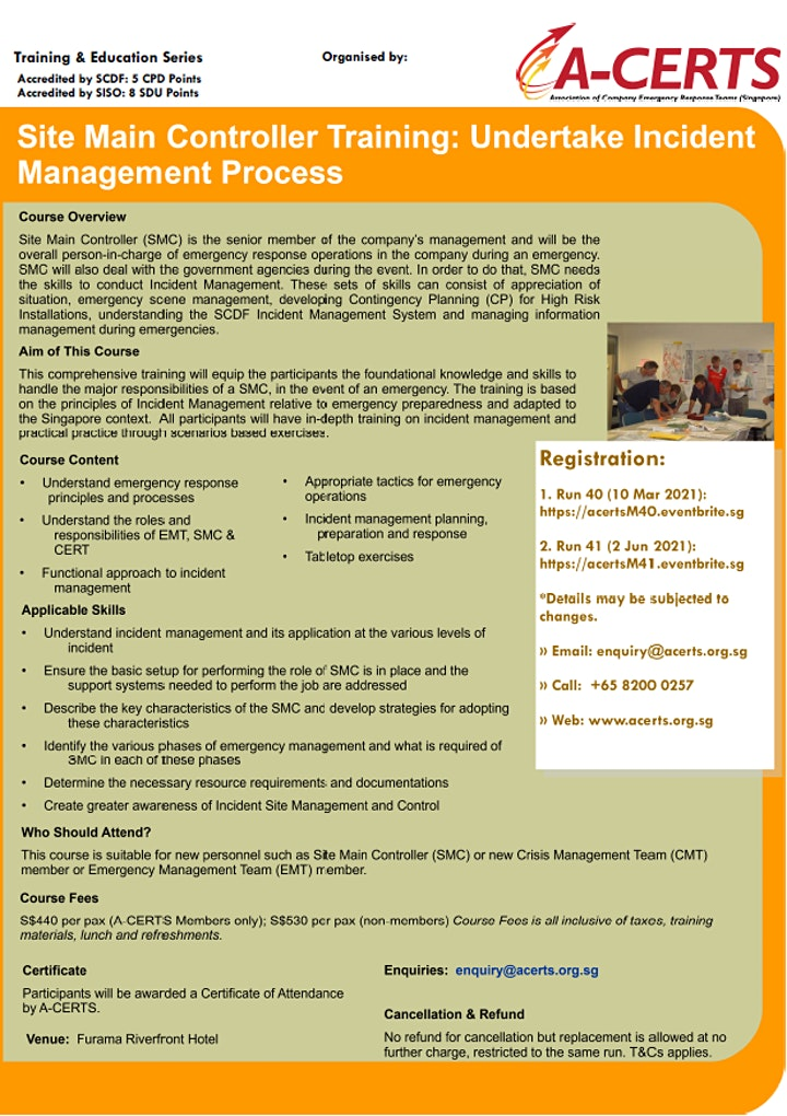 SMC Training: Undertake Incident Management Process (1 Day) Run 40 image