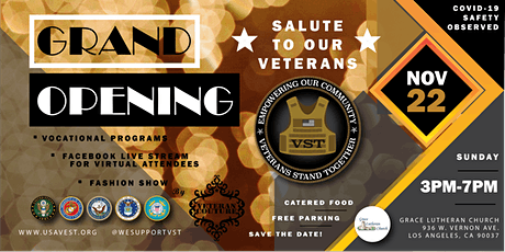 VST Grand Opening - Salute To Our Veterans tickets