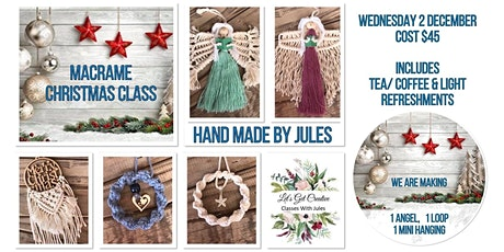 Macrame Christmas Class - Morning tickets