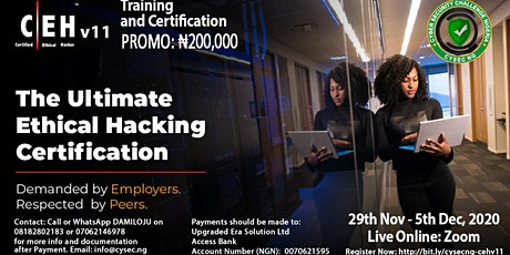 Certified Ethical Hacker (CEH v11) Training and Certification Exam tickets