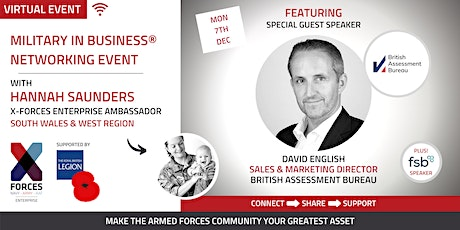 Military in Business Virtual Networking Event: South Wales and West tickets