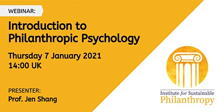 Webinar - Introduction to Philanthropic Psychology tickets