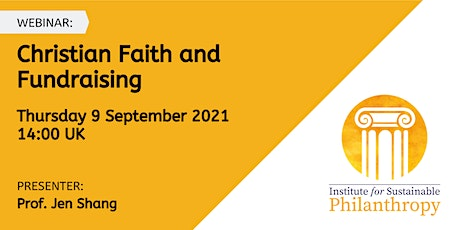 Webinar - Christian Faith and Fundraising tickets