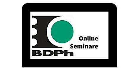 BDPh Online-Seminar - Internetmarken? Tickets