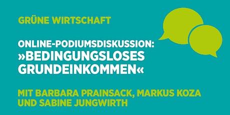 Online-Podiumsdiskussion: »Bedingungsloses Grundeinkommen« Tickets