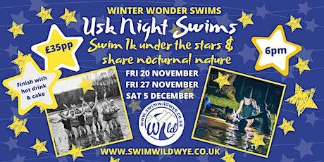 Winter Night Swim - Usk 05/12/20 tickets