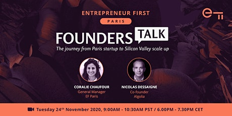 EF Founders Talk: The journey from Paris startup to Silicon Valley scale up tickets