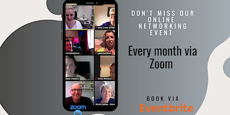 Online relaxed networking for business owners tickets
