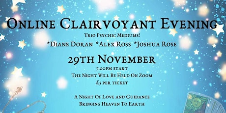 Online Clairvoyant Evening - Three Psychic Mediums tickets