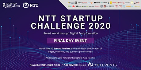 NTT Startup Challenge 2020 #Singapore tickets