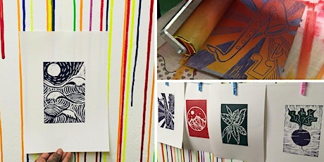 Lino print your own A4 posters (with BYOB) 2021 tickets