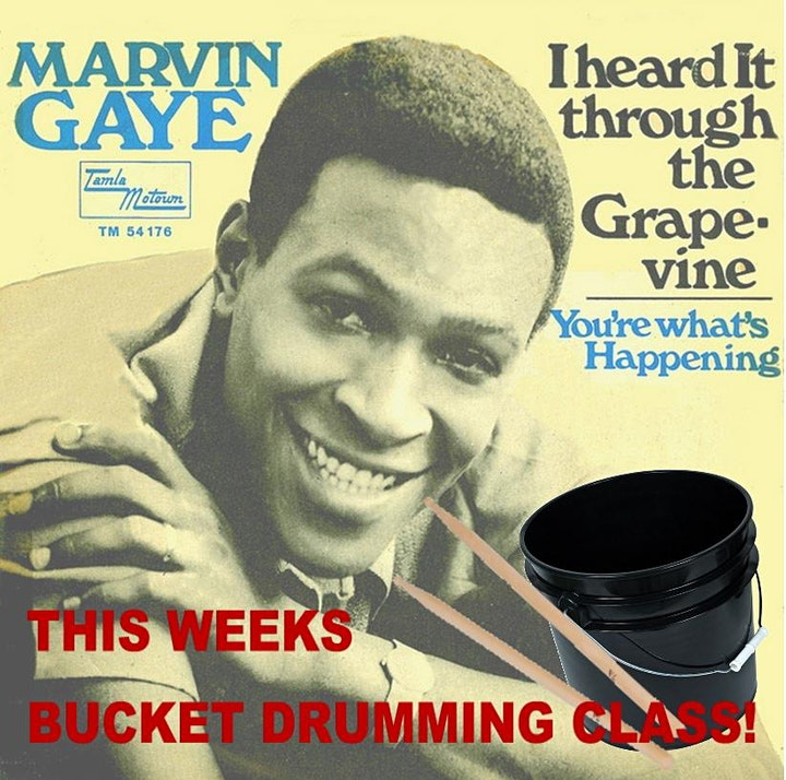 Bucket Drumming Lessons with Song Requests! For Adults. image