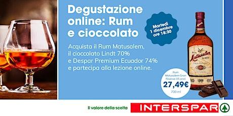 Degustazione on line: RUM e CIOCCOLATO biglietti