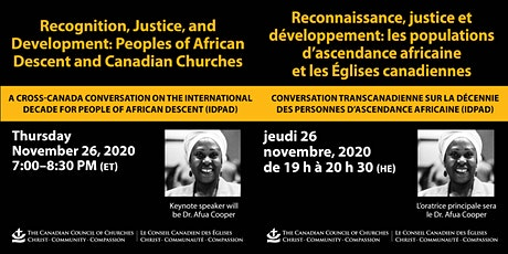 Peoples of African Descent & Canadian Churches: A Cross-Canada Conversation tickets