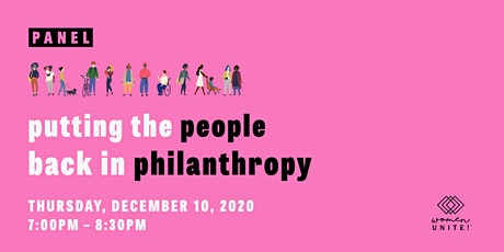 Putting the People Back in Philanthropy tickets