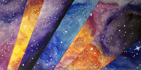 Watercolour Galaxy Bookmarks Workshop with Poppy Jennings tickets