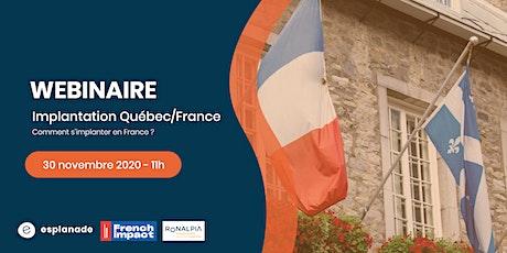 Webinaire: implanter votre organisation sur le marché français billets