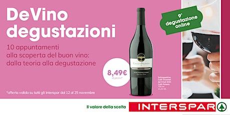 DeVino - Degustazione on line - lezione 9 biglietti