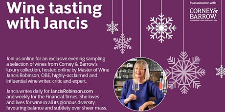 Exclusive Wine Tasting Experience with Jancis Robinson, OBE tickets