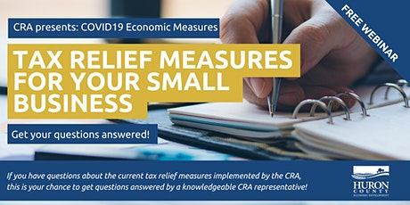CRA Tax Relief Measures for Your Small Business tickets