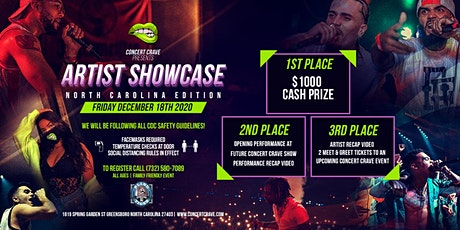 Concert Crave Artist Showcase - GREENSBORO, NC 12.18.20 tickets