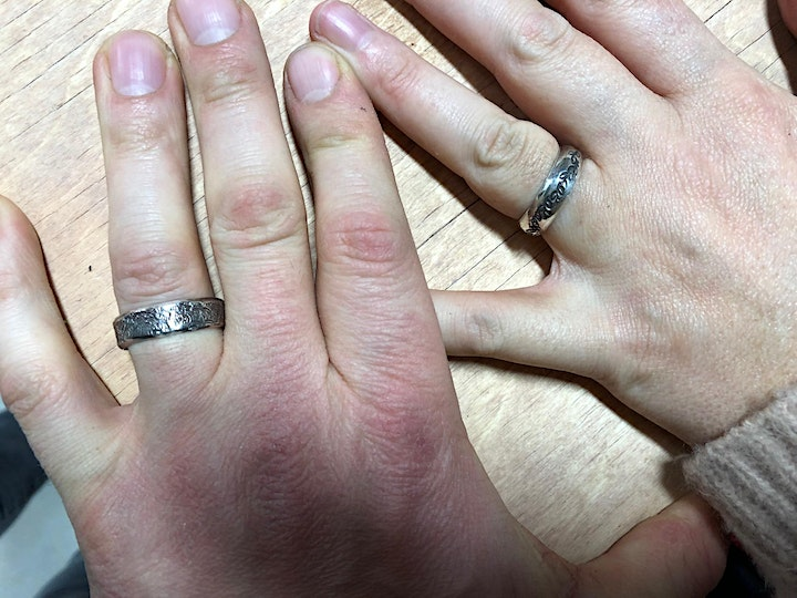 Silver Band Ring with Morag Budgeon image