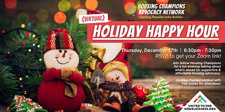 Housing Champions Holiday Happy Hour! (Virtual) tickets