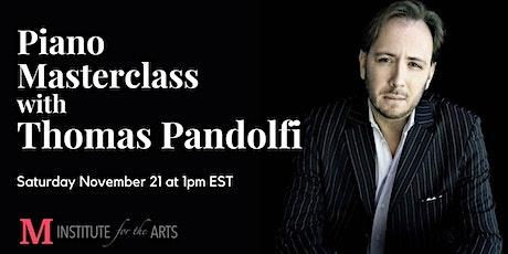 Piano Masterclass with Thomas Pandolfi tickets