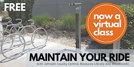 November Maintain Your Ride: Virtual JoCo Library Edition tickets