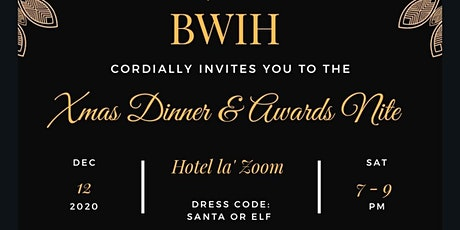 BWIH Xmas Dinner & Awards Night 2020 tickets