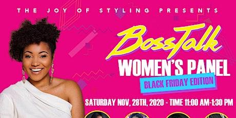 Boss Talk: Virtual Women's Panel Black Friday Edition tickets