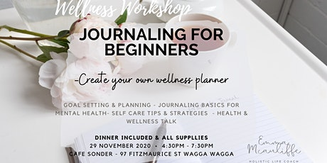 Journaling for beginners - create your own wellness planner tickets