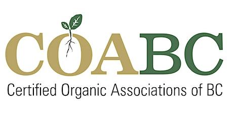 2021 COABC Organic Conference tickets