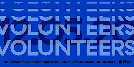 Volunteer Info Sesh – December tickets