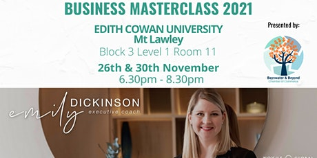 Business Masterclass for 2021 tickets