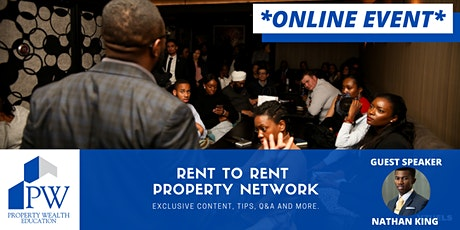 Rent To Rent Property Network - Online Meetup Event tickets