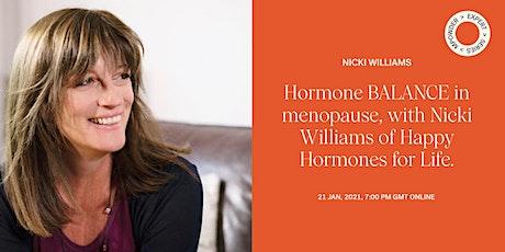 MPowder Expert Series: hormone balance in menopause tickets