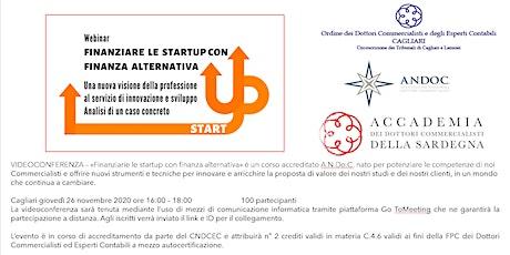 Finanzia le startup con finanza alternativa biglietti