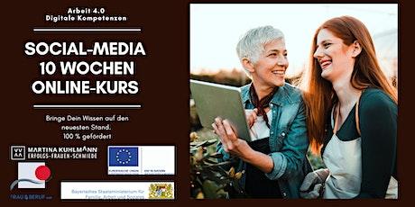 Social-Media 10 Wochen kostenloser Online Kurs Tickets