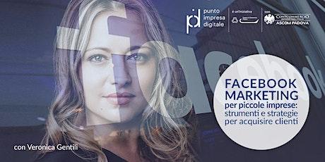 Facebook Marketing per piccole imprese biglietti