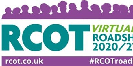 RCOT Scottish Northern Region Roadshow 2020/21 and  CPD Session tickets