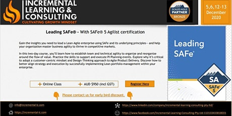 Leading SAFe – With SAFe® 5 Agilist certification (Public) tickets
