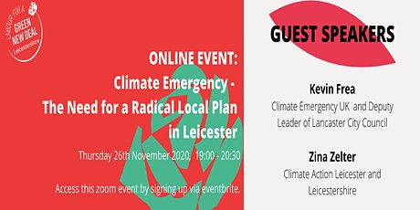 Climate Emergency - the need for a radical Local Plan in Leicester tickets