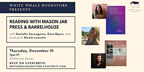 Reading w/ Mason Jar Press & Barrelhouse: Zaccagnino, Myers, & Lourette tickets