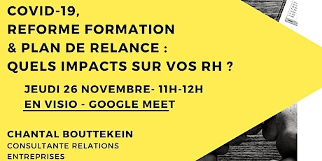 COVID -19, REFORME FORMATION & PLAN DE RELANCE : QUELS IMPACTS SUR VOS RH ? Tickets