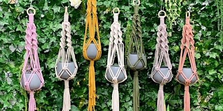 Macramé with Mary from Knot Modern - pot plant holder workshop tickets